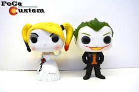 wedding cake joke custom funko pop joker and harley quinn wedding cake toppers mad
