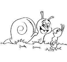 snail and ant coloring page coloringcrew com