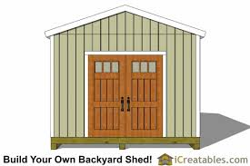 Backyard Storage Sheds Plans by 12x20 Shed Plans 12x20 Storage Shed Plans Icreatables Com
