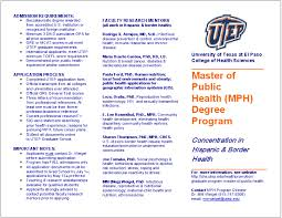 university of texas at el paso utep master of public health
