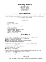 Sample Of Work Experience In Resume by Professional Hair Stylist Templates To Showcase Your Talent