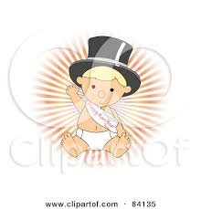 baby new year sash clipart baby walking upright and wearing a top hat and happy new