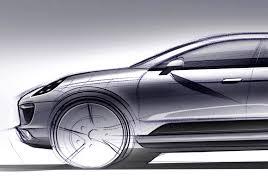 porsche concept sketch porsche macan debuts in force image 2 auto types