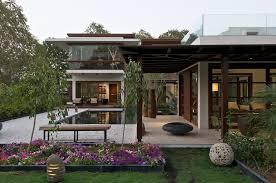 timeless contemporary house with courtyard zen garden home design