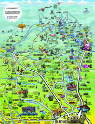 Map Of Austin Tx This Cool Map Of The Hill Country Captures The Essence Of Central