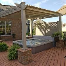 Deck With Pergola by Best 25 Tub Pergola Ideas Only On Pinterest Outdoor Pergola