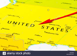 Pics Of Maps Of The United States by Red Arrow Pointing United States Of America On The Map Of North