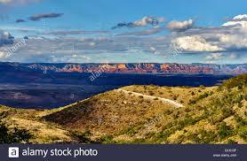 view of red rock mountains in sedona arizona taken from