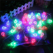 2018 20 led shaped tree string lights