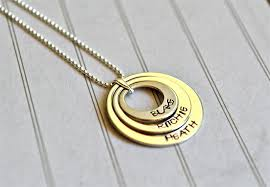 Mothers Necklaces With Children S Names Personalised Sterling Silver Necklace Mother Childrens Names