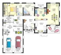 plan maison 4 chambre plan maison plain pied 4 chambres avec suite parentale en l villa id