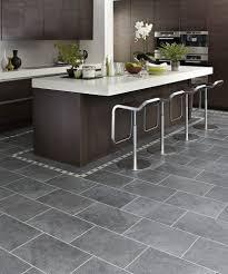 Black Brick Kitchen Tiles Gray Tile With Dark Brown Cabinets Kitchens Pinterest Dark