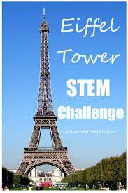 eiffel tower stem challenge preschool powol packets
