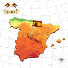 Map Of Spain by Map Of Spain With Madrid Vector Image 1597916 Stockunlimited