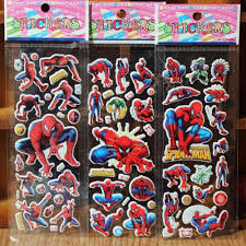 Comic Book Room Decor Spiderman Stickers For Children Comic Book Super Heros 3d Cartoon