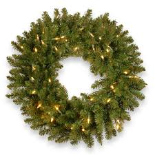 national tree co kingswood fir 30 lighted wreath reviews wayfair