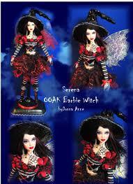 halloween barbie doll ooak fairy witch barbie doll halloween custom repaint makeover