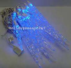 Multi Color Icicle Lights Decorating Fresh Led Icicle Lights With White Cable Ideas Also