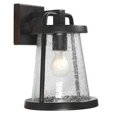 Home Decorators Lighting Home Decorators Gale 1 Light Outdoor Medium Wall Lantern Black