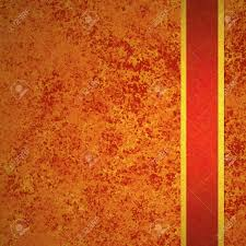 abstract orange background autumn and red gold ribbon for fall