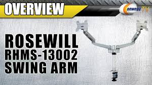 rosewill dual monitor desk mount rosewill rhms 13002 dual swing arm monitor mount overview newegg