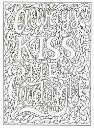 timeless creations creative quotes coloring page always kiss