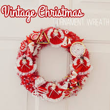 vintage ornament wreath tutorial bre pea