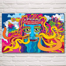 artwork trippy psychedelic abstract art silk poster prints home