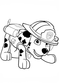 Paw Patrol Marshall Puppy Coloring Page Free Printable Coloring Puppy Color Pages