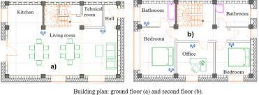 second floor plans fig 2 building plan ground floor a and second floor b sensor