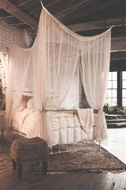 bed canopy walmart wood frame bedroom inspired diy four poster