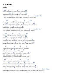cotabato by asin guitar chords guitar tabs and lyrics chordie