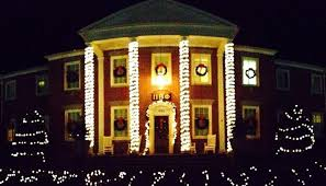 up christmas decorations frat row puts up christmas decorations to distract from shittiness