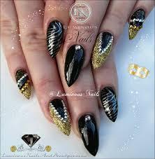 luminous nails black gold u0026 silver nails luminous nail
