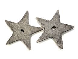 Metal Star Home Decor Vintage 2 Cast Iron Stars Metal Stars Star Knobs Home Decor