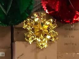 half price gold snowflake commercial foil decorations