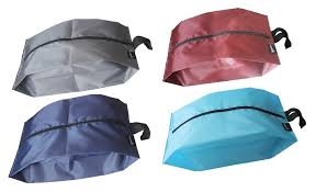 Misslo portable nylon travel shoe bags with zipper closure pack 4
