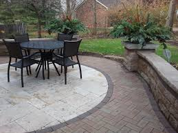 patio ideas with pavers beautiful patio using unilock brick pavers stonehenge coping