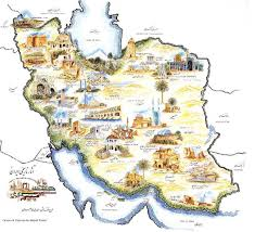 Isfahan On World Map by Iran Map Iran Travel Information