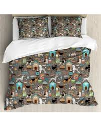 paw print sheets deal on dog lover king size duvet cover set paw print