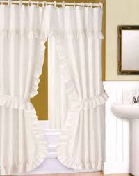 White Ruffled Curtains For Nursery by Interior Ruffle Drapes White Ruffle Curtains Gypsy Ruffled