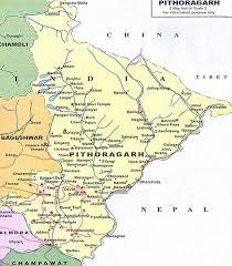 India Political Map Pithoragarh Map Political Map Of Pithoragarh Uttarakhand Portal