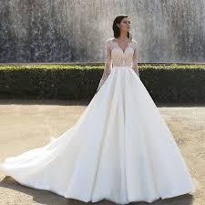 Princess Wedding Dresses Aliexpress Com Buy 2017 Spring Long Sleeves Princess Wedding