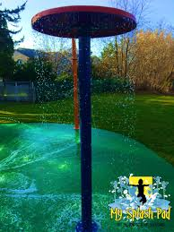 umbrella water play features by my splash pad