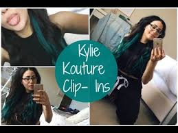 kylie hair couture extensions reviews i have blue hair kylie kouture extensions youtube