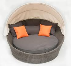 Outdoor Bbq Furniture by Outdoor Furniture Round Sun Lounge Wicker Rattan Day Bed Patio