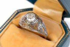 vintage engagement ring settings only pictures of antique engagement rings lovetoknow