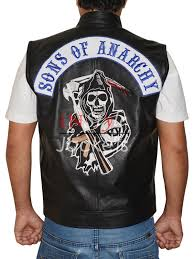motorbike vest sons of anarchy mens biker soa top real leather vest low cost