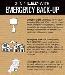 emergency lights when power goes out lenmar led7em 6000k 7 led emergency light bulb with backup battery