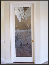 Glass Door Etching Designs by Office Glass Doors Show Off Etched Palm Trees The Glass Door Store